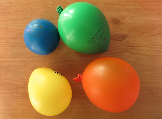 blown up balloons