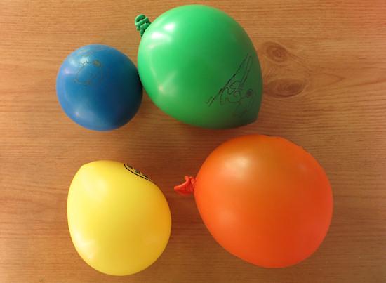 blown up balloons