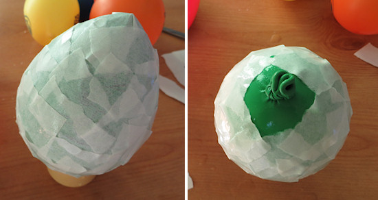 first layer papier mache