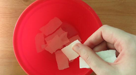 soak paper