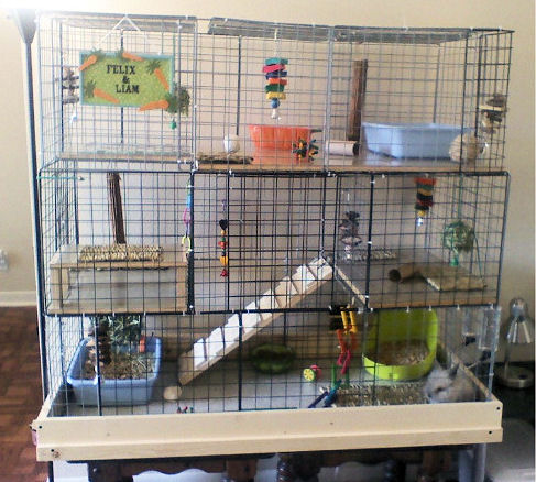 Large Multi Level Cube Rabbit Cage