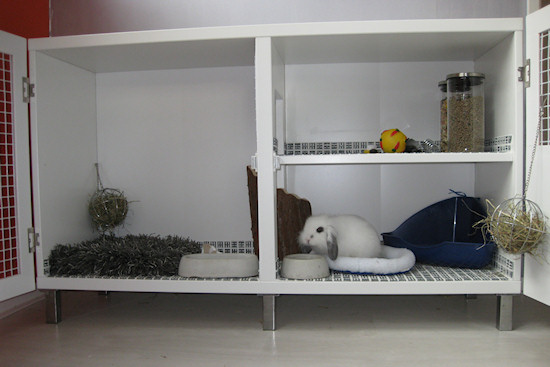 indoor rabbit hutch furniture 2