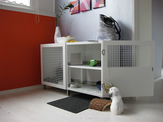 Convert Cupboard into Indoor Rabbit Hutch