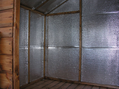 insulate your playhouse with foil